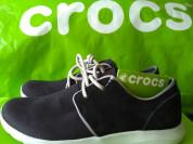 Crocs Кроссовки новые, натуральная замша+джинса
