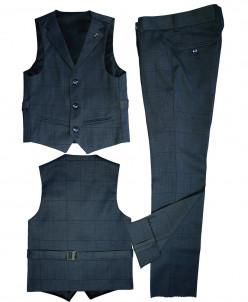 Костюм-двойка UNIK KIDS, жилетка+брюки, темно-серый