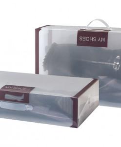 """Набор 2 коробок для хранения обуви 52*30*11,5 см """"Коричневая"""