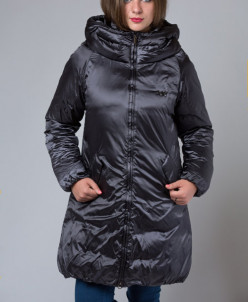 Пальто зимнее черный бриллиант