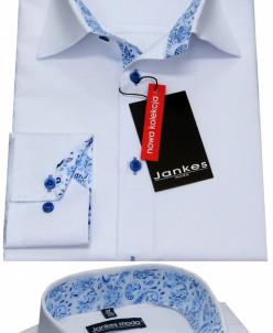 Рубашка белая отделка мотив  116-146 cm
