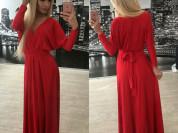 новое красное платье-трансформер р.универсал