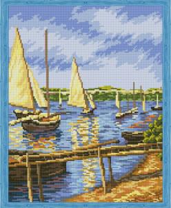 Парусные лодки - алмазная мозаика