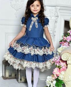 """Платье для девочки """"Джинс"""""""