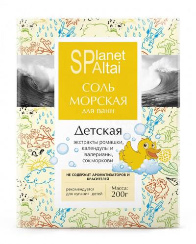 """Соль морская «Детская» для ванн """"Planet SPA ALTAI"""", 200 гр"""