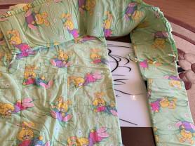 Бортики и одеяло в дет кроватку.