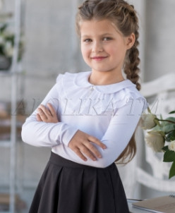 Ульяна блузка трикотажная, белая