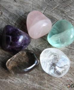 Набор натуральных камней самоцветов Пастель
