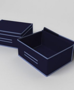 Кофр большой (жесткий) 45х35х20 см классик синий