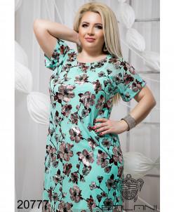 ХИТ!! Принтованое платье с комбинацией - 20777