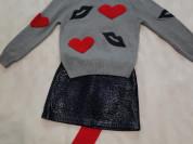Модный комплект (свитер+юбка+колготки), р.8