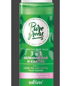"""Гидролат для лица 3 в 1 """"""""Зеленый чай и кактус"""""""", 115 мл"""
