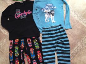 Пижамы теплые+подарок кальсоны ,шорты для сна