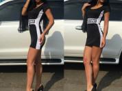 новое черное платье москино