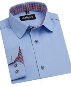 Рубашка голубая 116-146 см