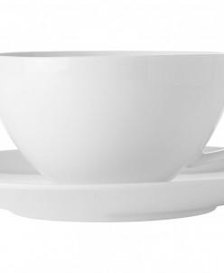 Чашка с блюдцем большая Белая коллекция без инд.упаковки Max
