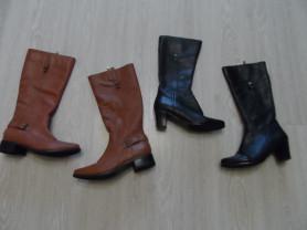 Сапоги натуральная кожа мало б/у деми в дар туфли