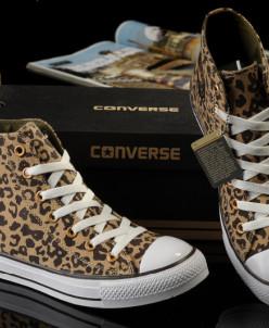 Леопардовые высокие Converse All Star!