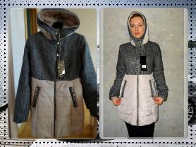Новое теплое пальто весна осень 42