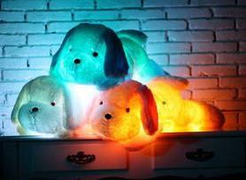 Мягкие светящиеся собачки и мишки С LED подсветкой