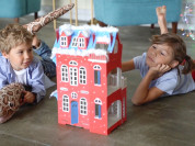 Кукольный домик из гофрокартона для творчества и и