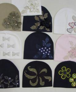 шапочки трикотажные новые