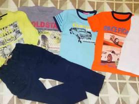 Пакет одежды для мальчика р. 110 Пять футболок с к