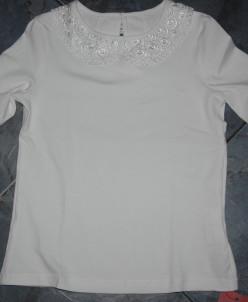 Трикотажная блузка Б*лисса экрю