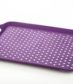 3735 GIPFEL Поднос прямоугольный 41,5х29х4,5 см цвет фиолето