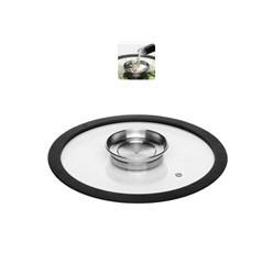 Стеклянная аромо-крышка с силиконовым ободом 24 см NATA