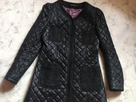 Демисезонная куртка-плащ стёганная р.XS-S