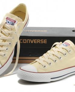 Бежевые низкие Converse AllStars!