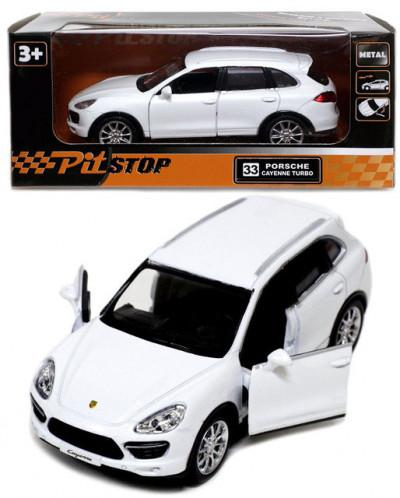 Инерционная машинка Porsche Cayenne Turbo, белая, 13см (1:32