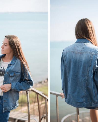 Женская джинсовая куртка The Bark 1039-350-v2
