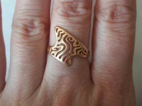 Кольцо золото 585 размер 16