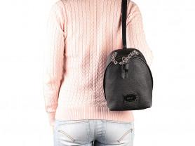 Новый кожаный рюкзак Gaude Италия черный