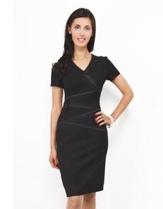 Платье черное с бантиками