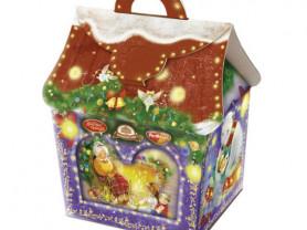 "Коробка для новогоднего подарка ""У камина"""