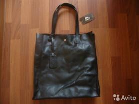 Новая, кожаная, женская сумка-шоппер (Италия).