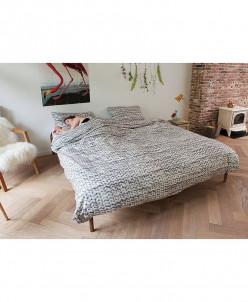 Комплект постельного белья Косичка серый Фланель1 150х200