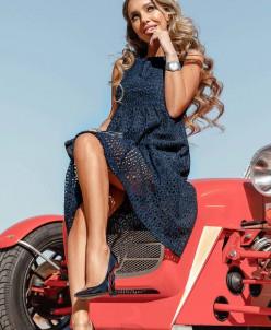 Ажурное платье-мини
