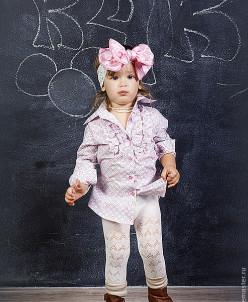Удлиненная рубашка розовая