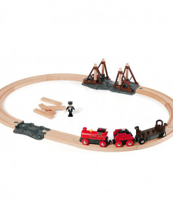 Набор с паровозом и строящимся мостом BRIO (БРИО)