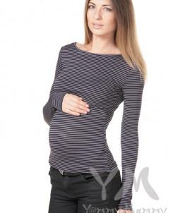 Лонгслив серый для беременных и кормящих мам