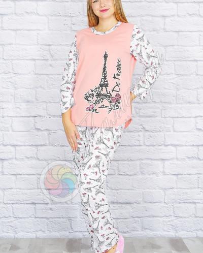 """Пижама """"Париж"""", футер"""