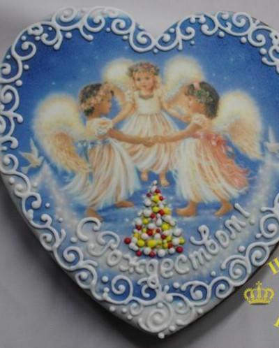 2006 Сердце большое «С Рождеством!» 20х20