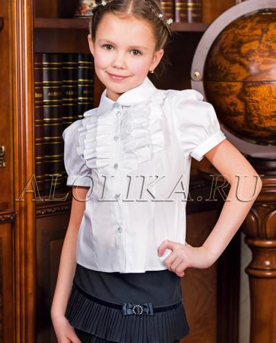 блузка белая школьная хлопок