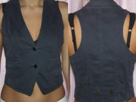 Жилет новый Atos Lombardini Италия размер М 46 синий под джинсу жилетка классика спорт Одежда женская бренд