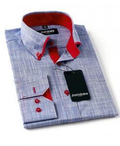 Рубашка цветная с отделкой  116-146 cm