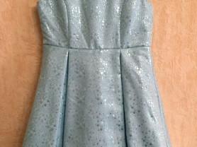 Нарядное нежно-голубое платье 10лет 140см